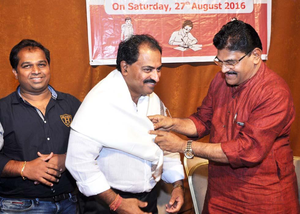 Chief Guest Shri. Taranath A Kallyanpur being felicitated.