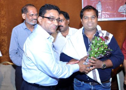 Guest of Honour Shri Prashant C.Pooajry being felicitated.