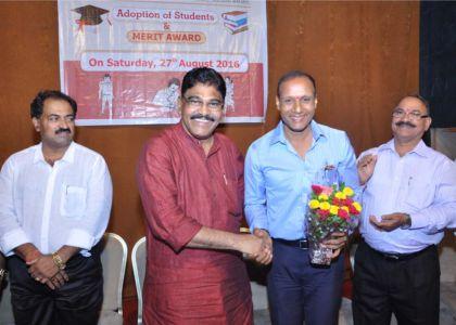 Shri.Bhaskar M.Salian being felicitated.
